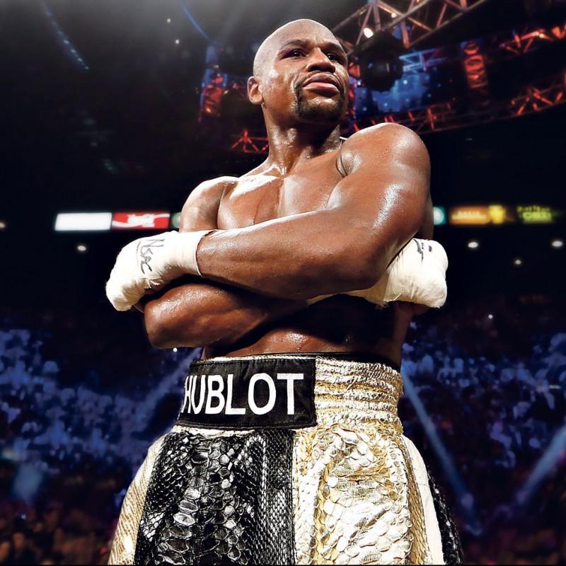 Hublot Boxing Shorts Signed by Floyd Mayweather