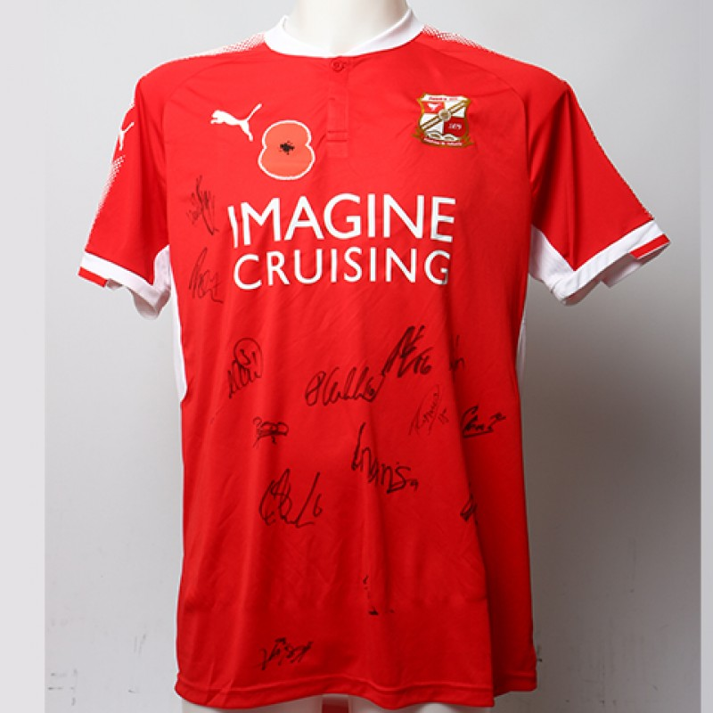 Poppy Shirt Signed by Swidon Town F.C.