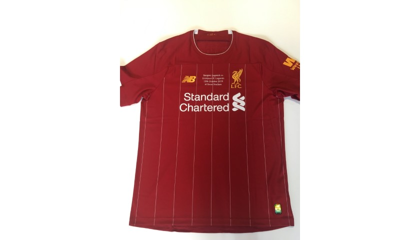 Carragher's Liverpool FC Legends Match Worn and Signed Shirt