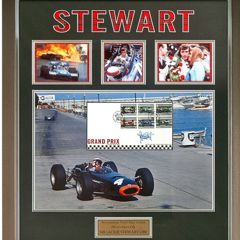 Jackie Stewart Hand Signed Formula 1 FDC F1 Photo
