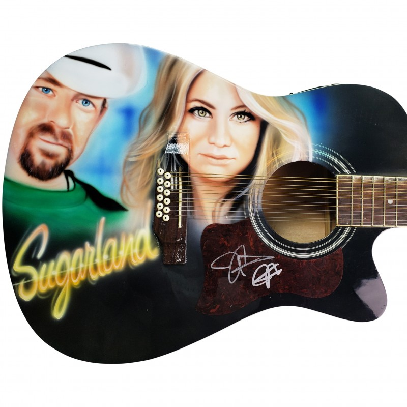 Sugarland Autographed Guitar with Custom Airbrushed Artwork