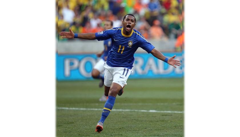 Robinho's Official Brazil Signed Shirt, 2010