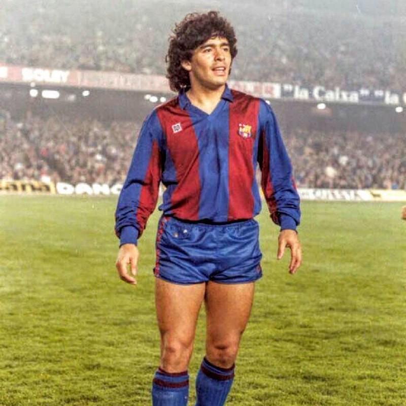 Maradona's Barcelona Worn Shirt, 1983/84
