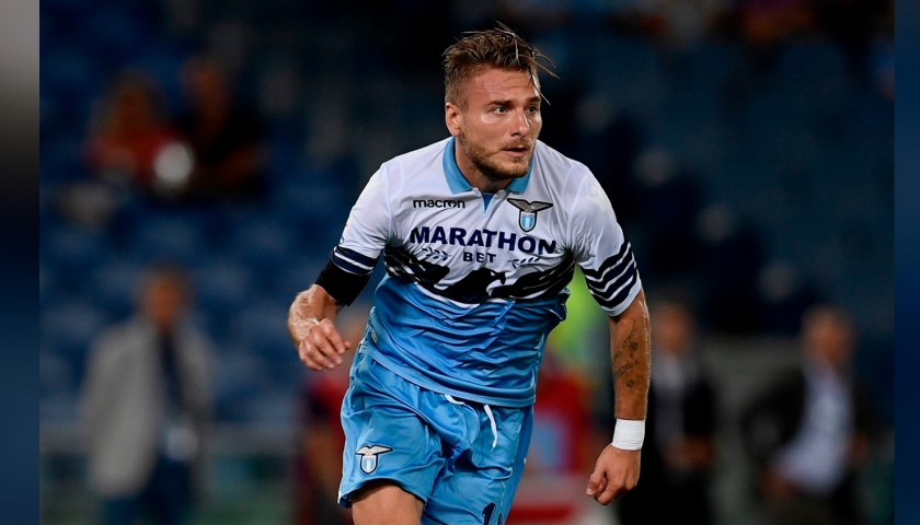 a69c24194 Immobile's Official Lazio Signed Shirt, 2018/19 - CharityStars
