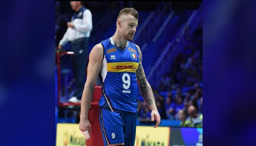 Zaytsev's Italy Vest Worn at 2018 Volleyball World Cup