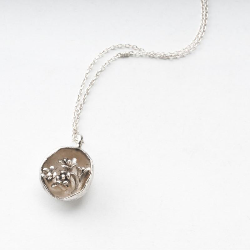 Portable Garden Silver Necklace - Giulia Tamburini