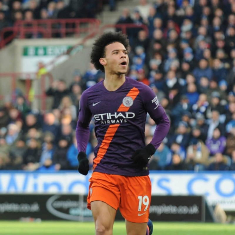 Sané's Manchester City Match Shorts Orange, Premier League 2018/19