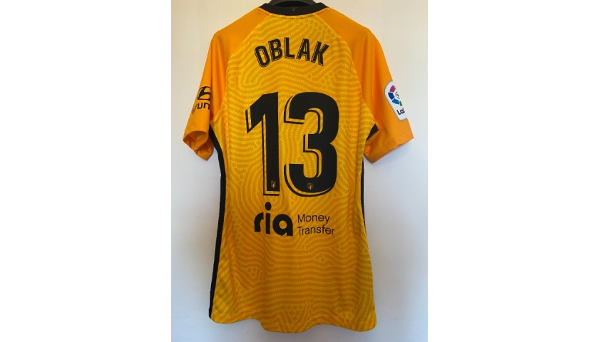 Oblak's Match Shirt, Real Betis-Atletico Madrid  2021
