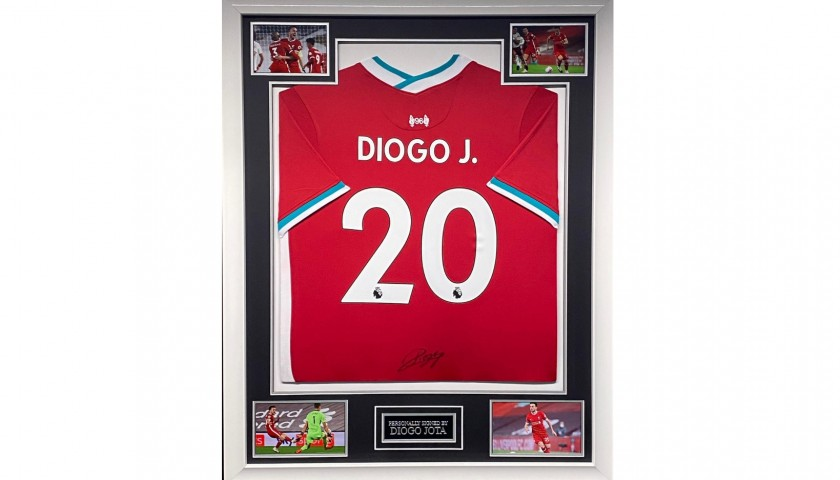 Liverpool Football Shirt Signed by Diogo Jota