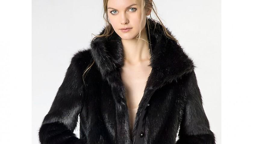 new product c87fc 1a60b Cappotto di Patrizia Pepe in pelliccia sintetica - CharityStars