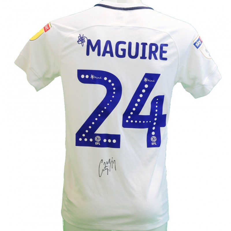 Maguire's Preston Worn and Signed Poppy Shirt