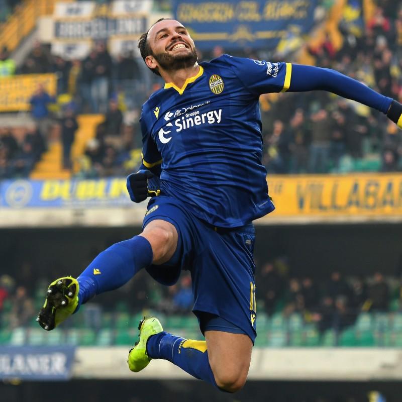 Pazzini's Worn and Signed Shirt, Hellas-Torino 2019