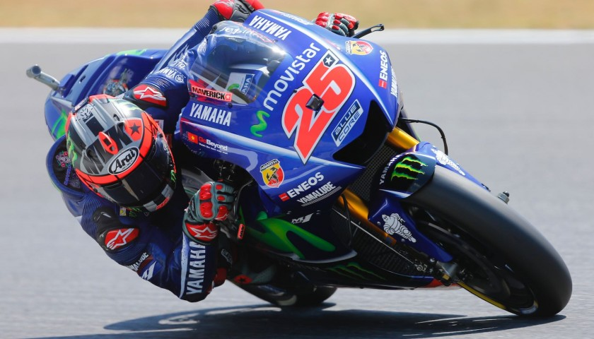 Maverick Viñales Left Signed Alpine Stars Knee Slider
