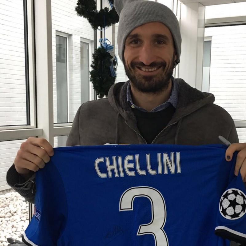 Chiellini Match Worn Shirt, Sevilla-Juventus 22/11/16 - Signed