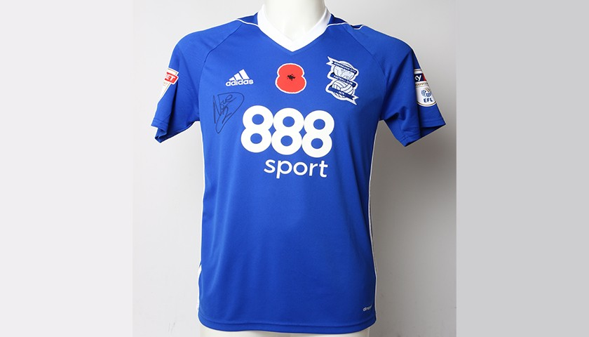 Poppy Shirt Signed by Birmingham City FC's Emilio Nsue