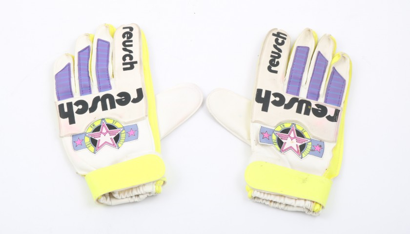 Napoli Goalkeeper's Shirt and Gloves Worn by Giuliani, 1989/90