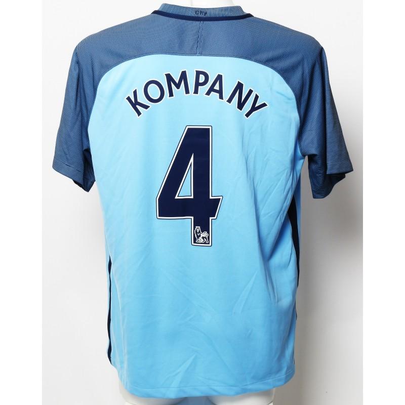 Vincent Kompany Manchester City FC Worn Shirt and Shorts from Season 2016 17