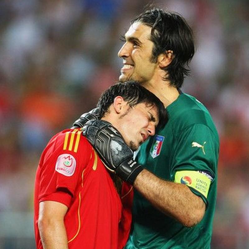 Buffon's Italy Signed Match Shirt, 2007/08