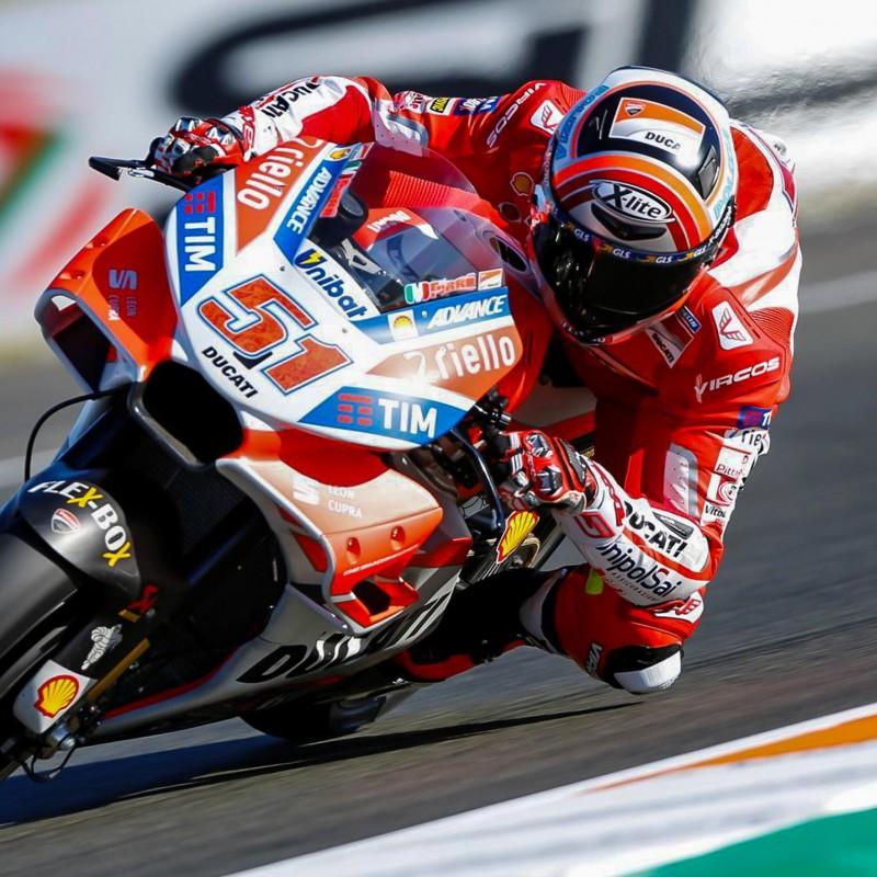 Ducati Racing Suit Worn by Pirro at the 2017 Mugello Moto GP