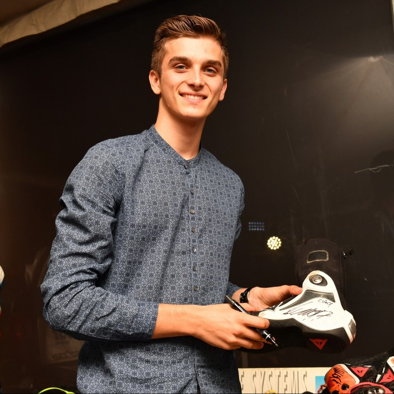 Italian Rider Luca Marini's Worn and Signed Motorbike Boots