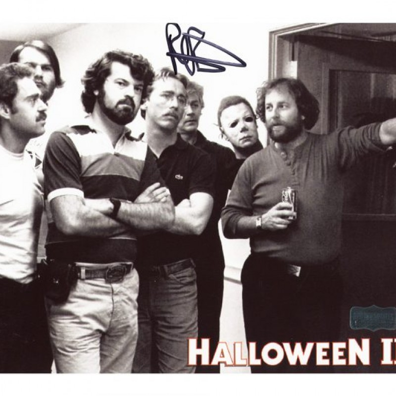 Rick Rosenthal Signed Halloween 2 Photo with Myers