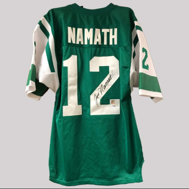 new concept c21fe 6bec4 Joe Namath Signed Jets Jersey - CharityStars