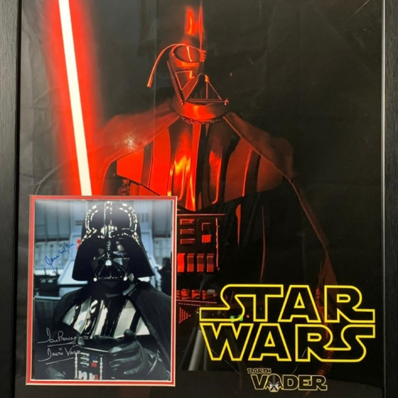 Darth Vader 2 Signatures, Framed Star Wars Display