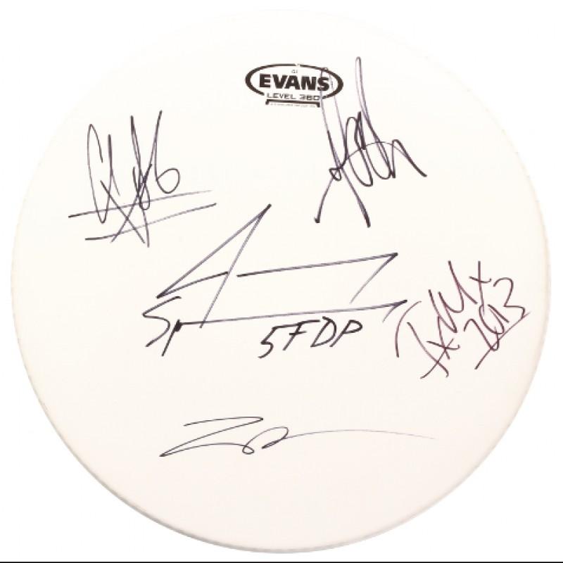 Signed 5 Finger Death Punch Drum Head