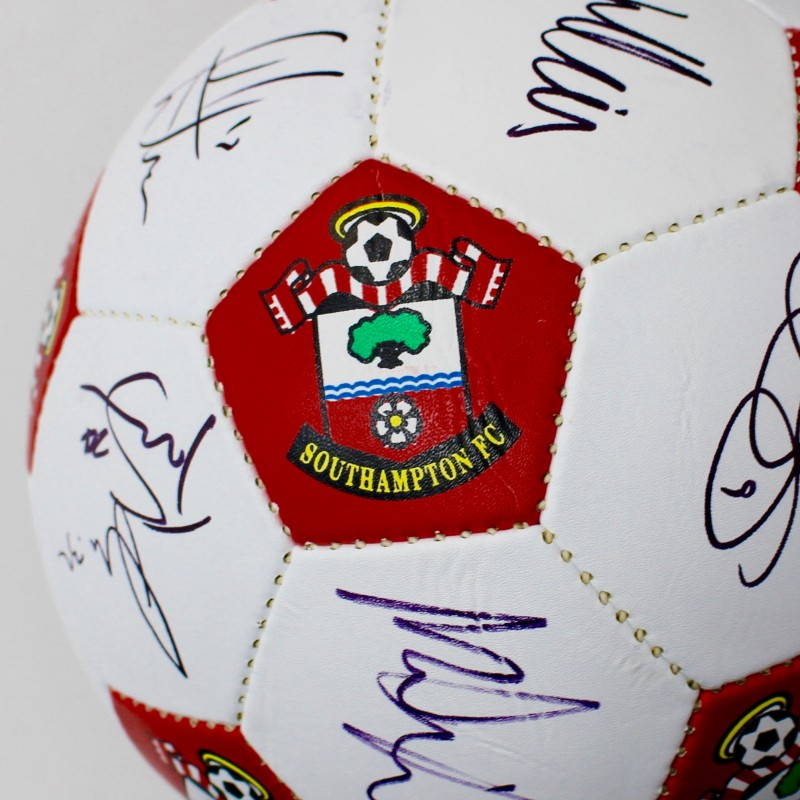 Southampton FC Football Signed by 16/17 First Team Squad