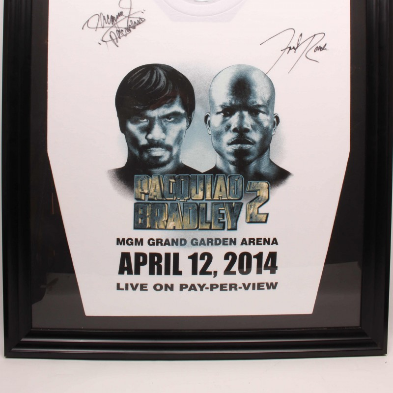 Manny Pacquiao and Freddie Roach Signed & Framed Shirt