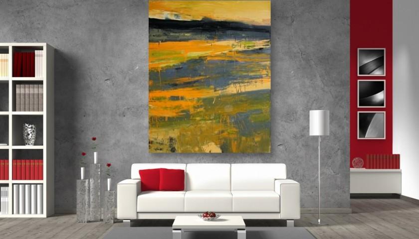 """Spiaggia"" - oil on canvas by G. Frangi - 190x150 cm"