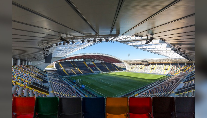 Scendi in campo come mascot in occasione di Udinese-Cagliari
