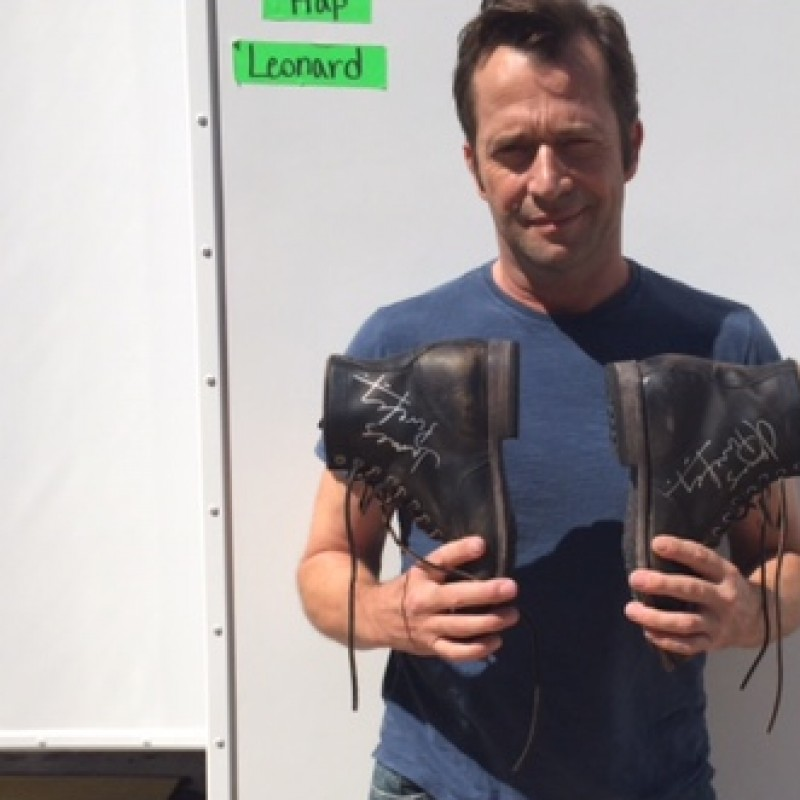 James Purefoy's Autographed Military Style Frye Boots from his Personal Collection