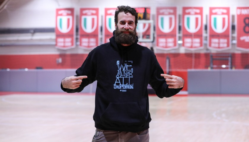 Datome's Official WE ARE ALL ONE TEAM Worn Sweatshirt