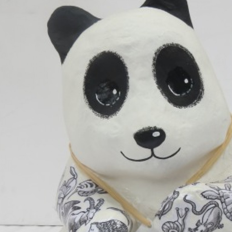 """Panda """"Black and white"""" personalized by Federico Gemma"""