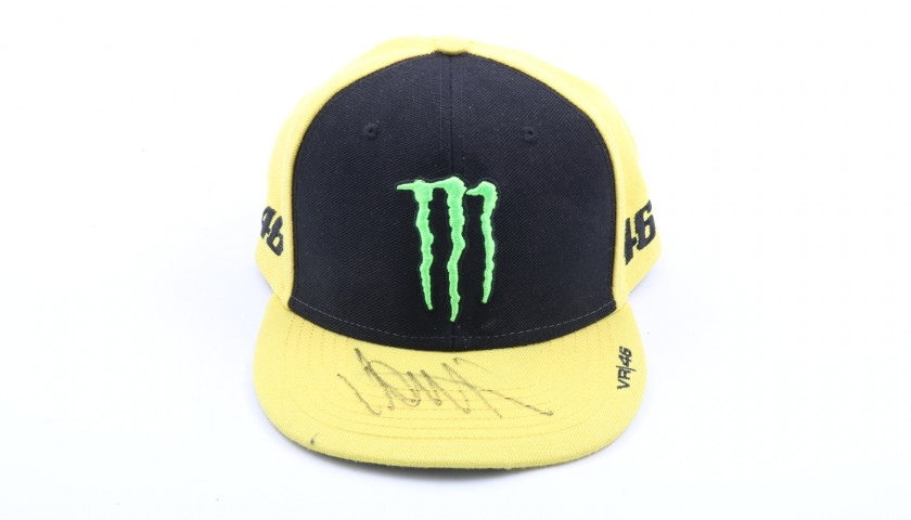 yamaha monster cap signed by valentino rossi charitystars. Black Bedroom Furniture Sets. Home Design Ideas