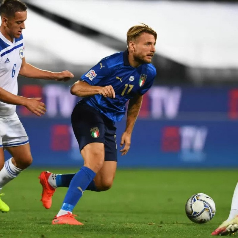 Immobile's Match Shirt, Italy-Bosnia 2020