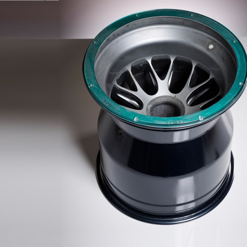 F1 Mercedes 2011 Rear Wheel Rim Coffee Table