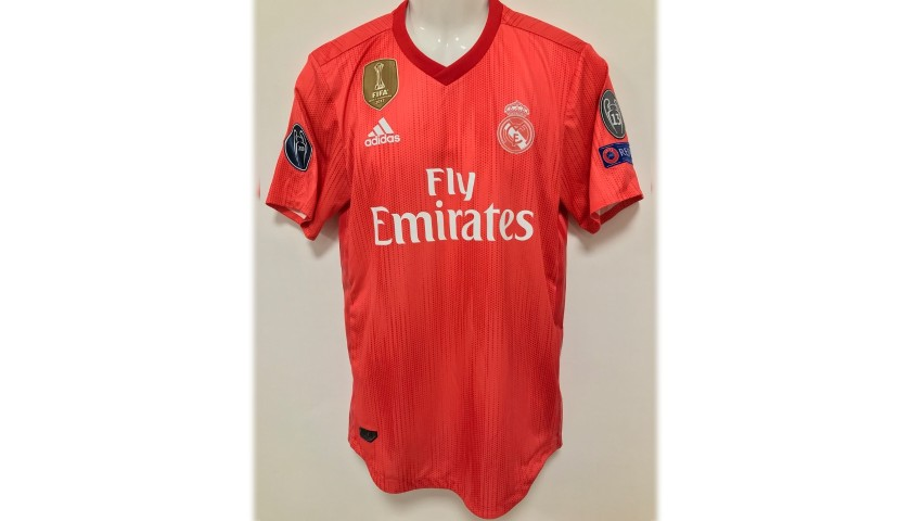 competitive price d4cba ae5e2 Odriozola's Real Madrid Match Shirt, UCL 2018/19 - CharityStars