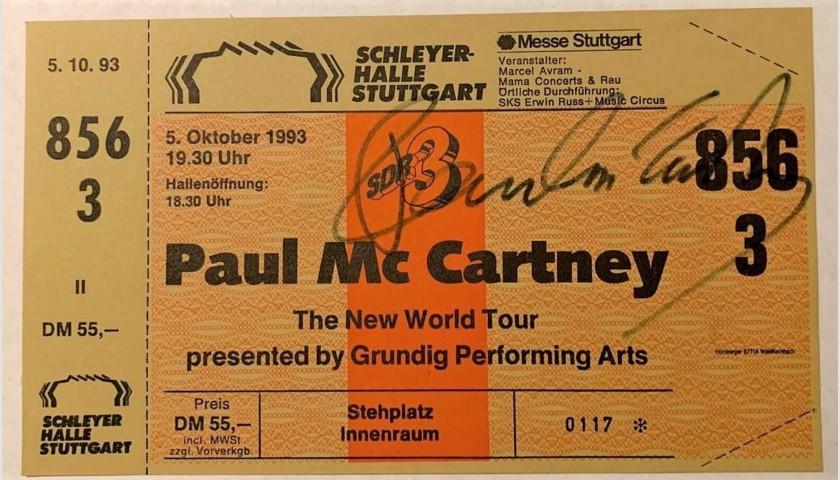 Paul McCartney Signed Concert Ticket, 1993