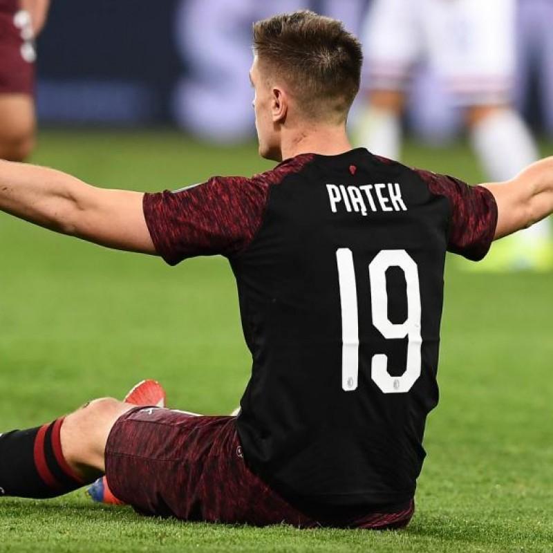 Piatek's AC Milan Match-Issued Shirt, Serie A 2018/19