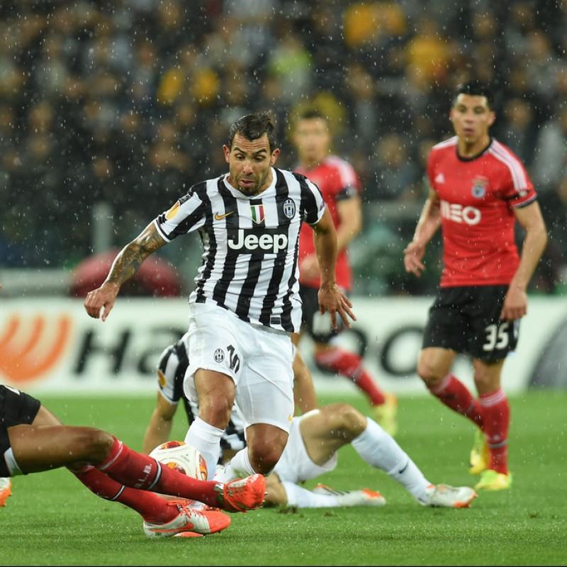 Tevez's UNWASHED Match-Worn Juventus Shirt, 2013/14 EL