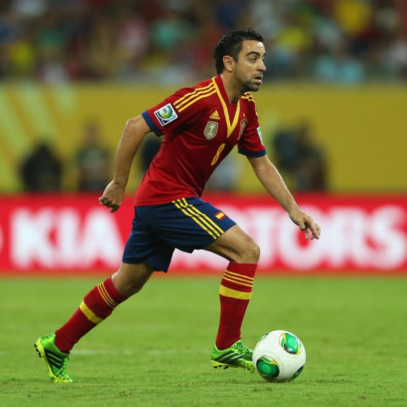 Xavi's Match Shirt, Brazil-Spain 2013