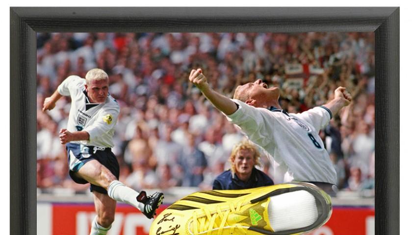 Paul Gascoigne Hand Signed Football Boot Italia '90
