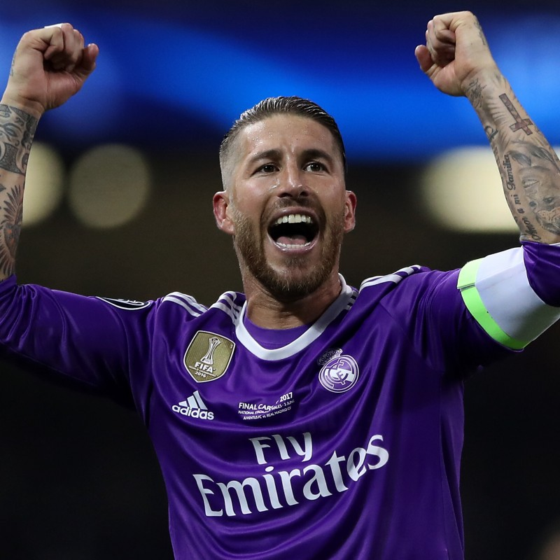 Sergio Ramos' Real Madrid Match-Issue Cardiff Final 2017 Shirt