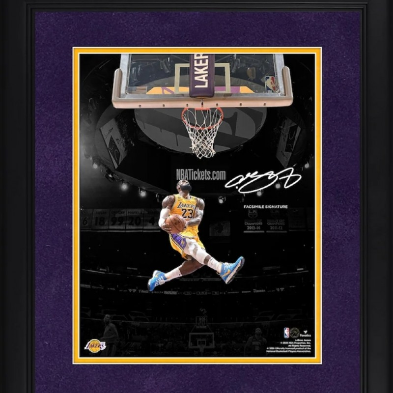 LeBron James Framed Photo with Digital Signature