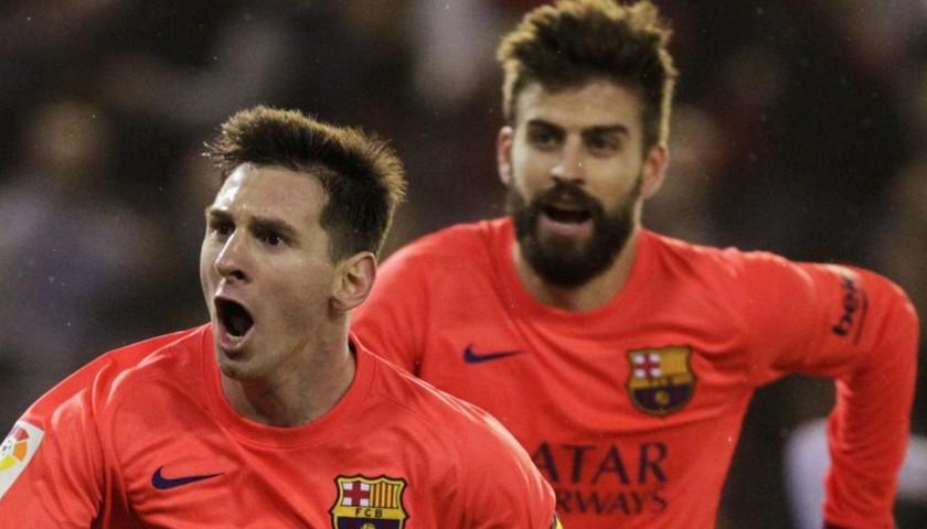 Messi's Barcelona Match Shirt, Liga 2014/15
