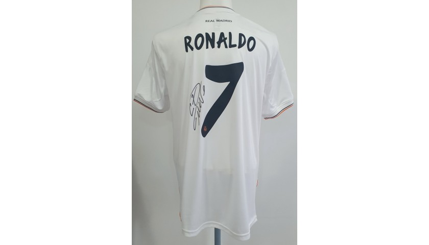 Ronaldo's Official Real Madrid-Atletico Madrid Signed Shirt, 2014