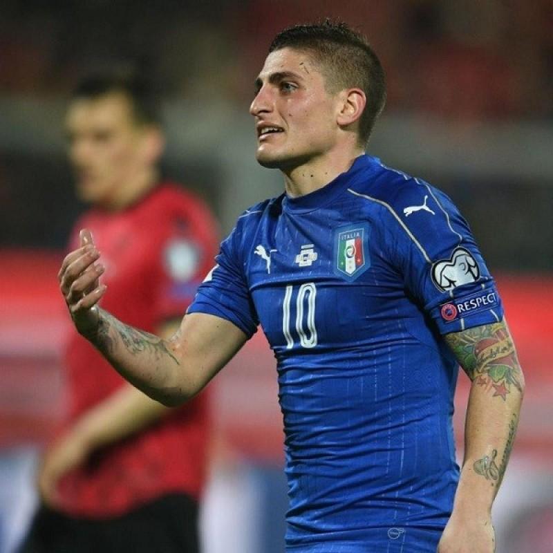 Verratti's Italy Match Shirt, 2016