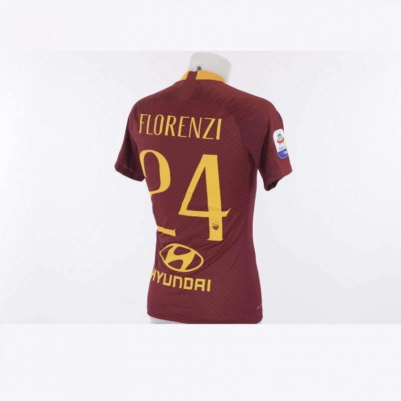 Florenzi's Worn Roma-Atalanta 2018/19 Shirt